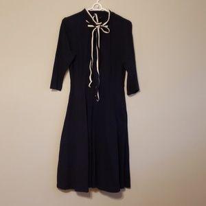 Eshakti Navy Tie Neck dress